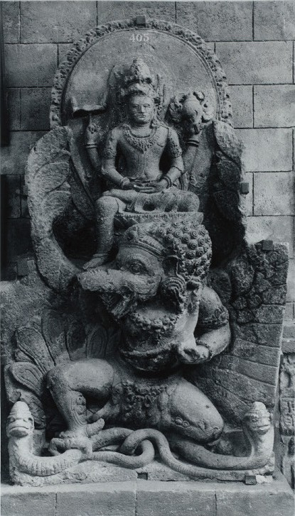 Vishnu mounted on Garuda
